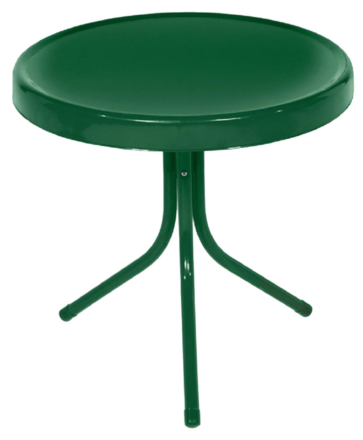northlight hunter green retro metal tulip outdoor side table bar height legs wood small black sofa blue living room chairs adjustable chair cherry corner accent monarch