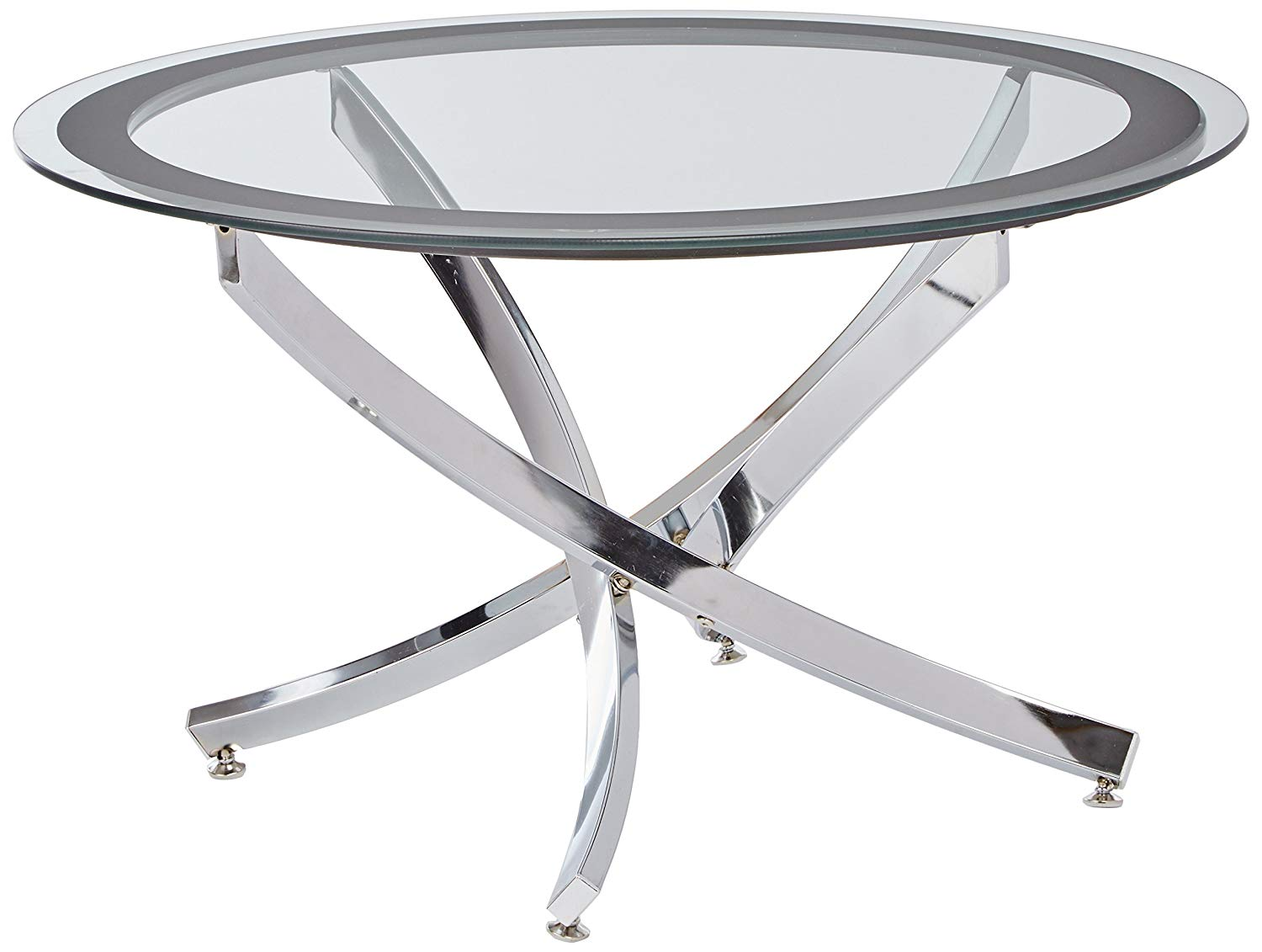 norwood coffee table with tempered glass top chrome and mirrored accent drawer clear kitchen dining small wine hallway mirror cabinet side unusual tables stanley furniture drum