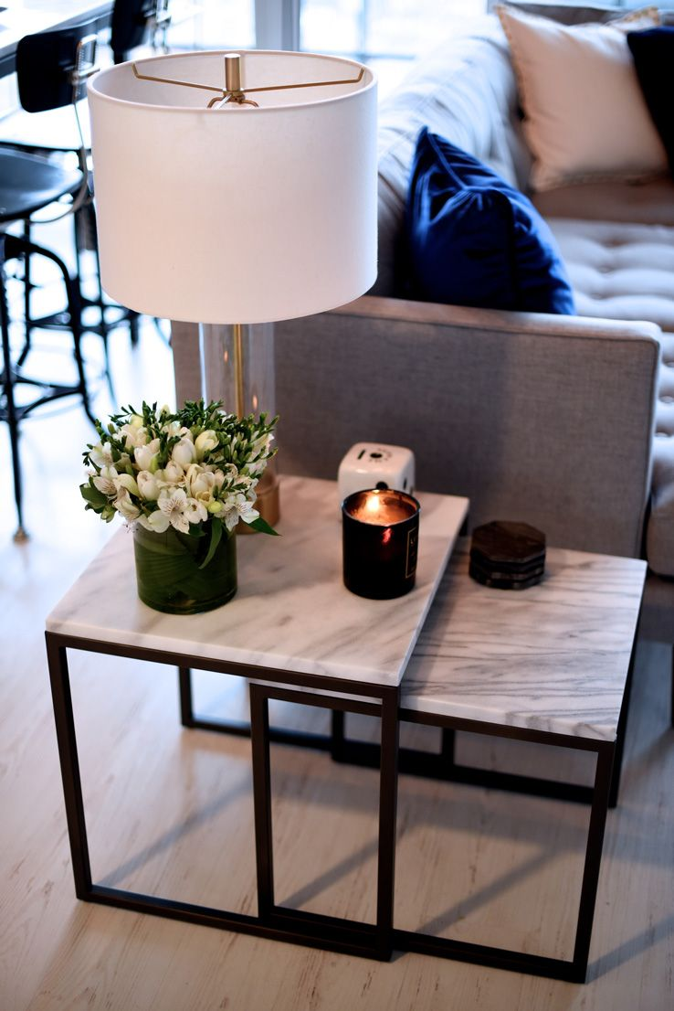 not your standard home with kayla seah west elm black white accent tables living room side diy drawing kmart furniture bedroom battery powered lamps beer cooler coffee table chair