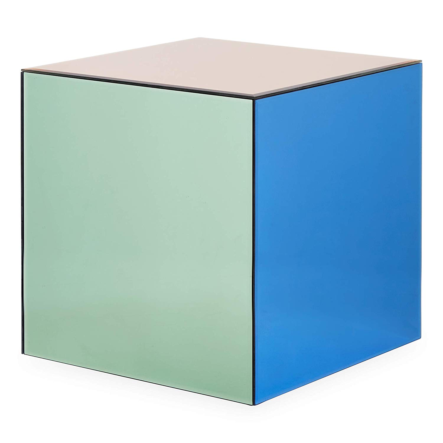 now house jonathan adler chroma cube accent table aqua blue multicolor kitchen dining bright colored coffee floor threshold transitions white chair oval outdoor round plastic