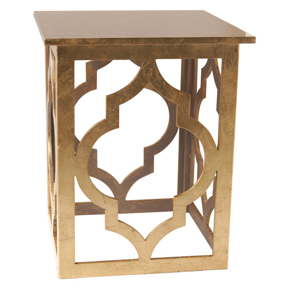 nspire quatrefoil end table options gold wood accent vintage with drawers acrylic round white patio umbrella winsome timmy style tables metal bar threshold contemporary sofa