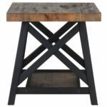 nspire rustic modern tier pine veneer and metal accent table inuse wood outdoor cordless lamps industrial storage coffee west elm bedside desk gray side distressed white sofa best 150x150