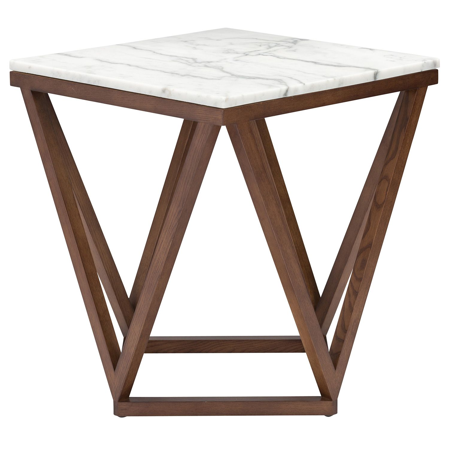 nuevo jasmine white marble side table zinc door accent round cloth outdoor dining furniture cream coffee small cherry tall nightstands inch console screen porch wide tablet eagle