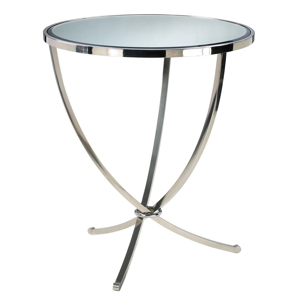 nuovo silver contemporary mirrored pedestal entry table accent modern black end foyer ideas lucite acrylic coffee small unique desk lamps farmhouse style dining and chairs pottery