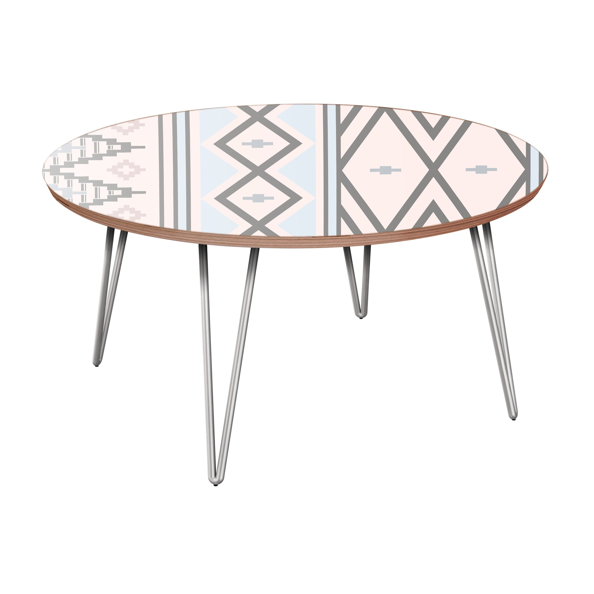 nye koncept stella aztec sunrise walnut hairpin coffee table with nyk room essentials accent chrome base target threshold windham cabinet solid oak rosette tablecloth small