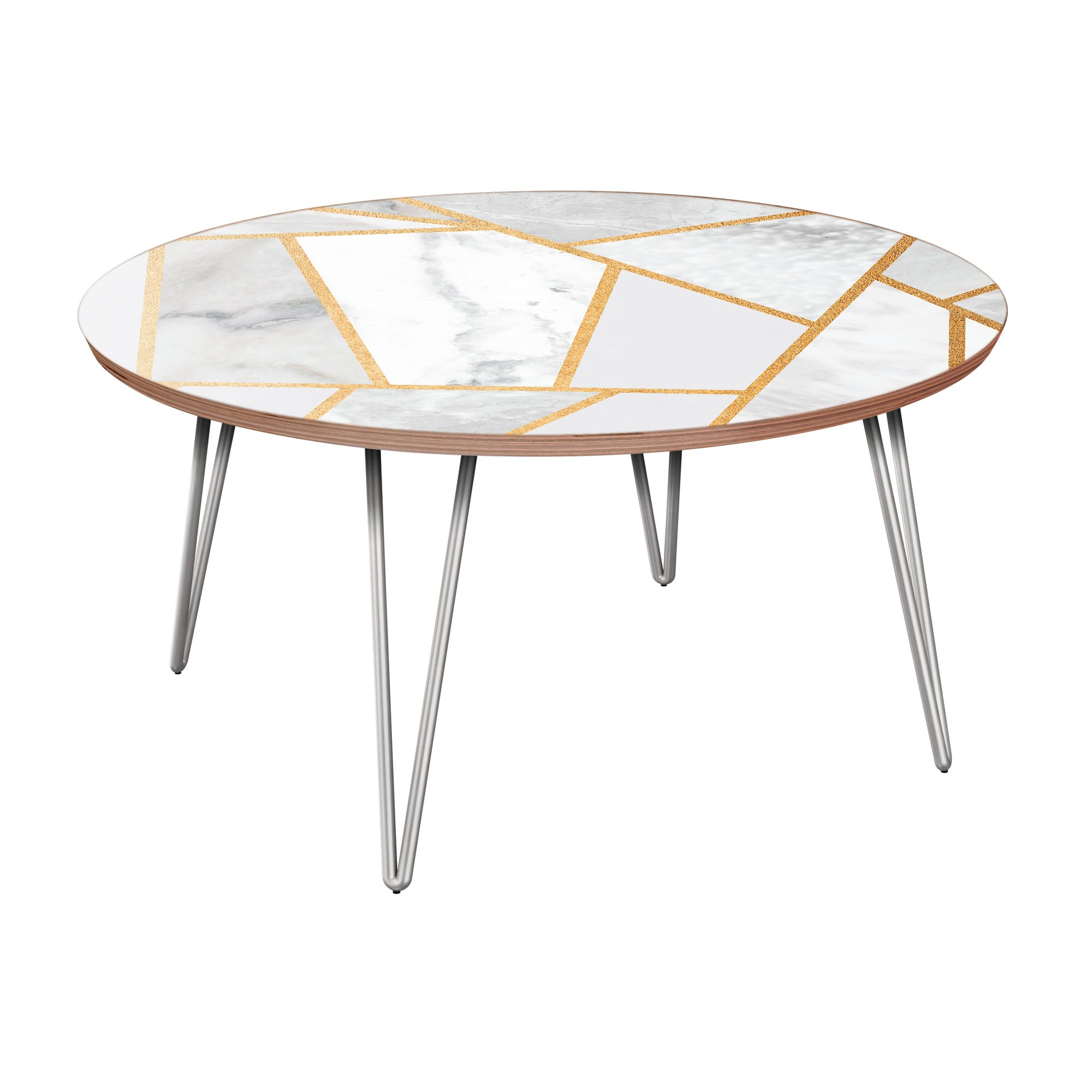 nye koncept stella marble melange walnut hairpin coffee table with nyk room essentials accent chrome base unstained furniture nautical dining rosette tablecloth drum throne pearl