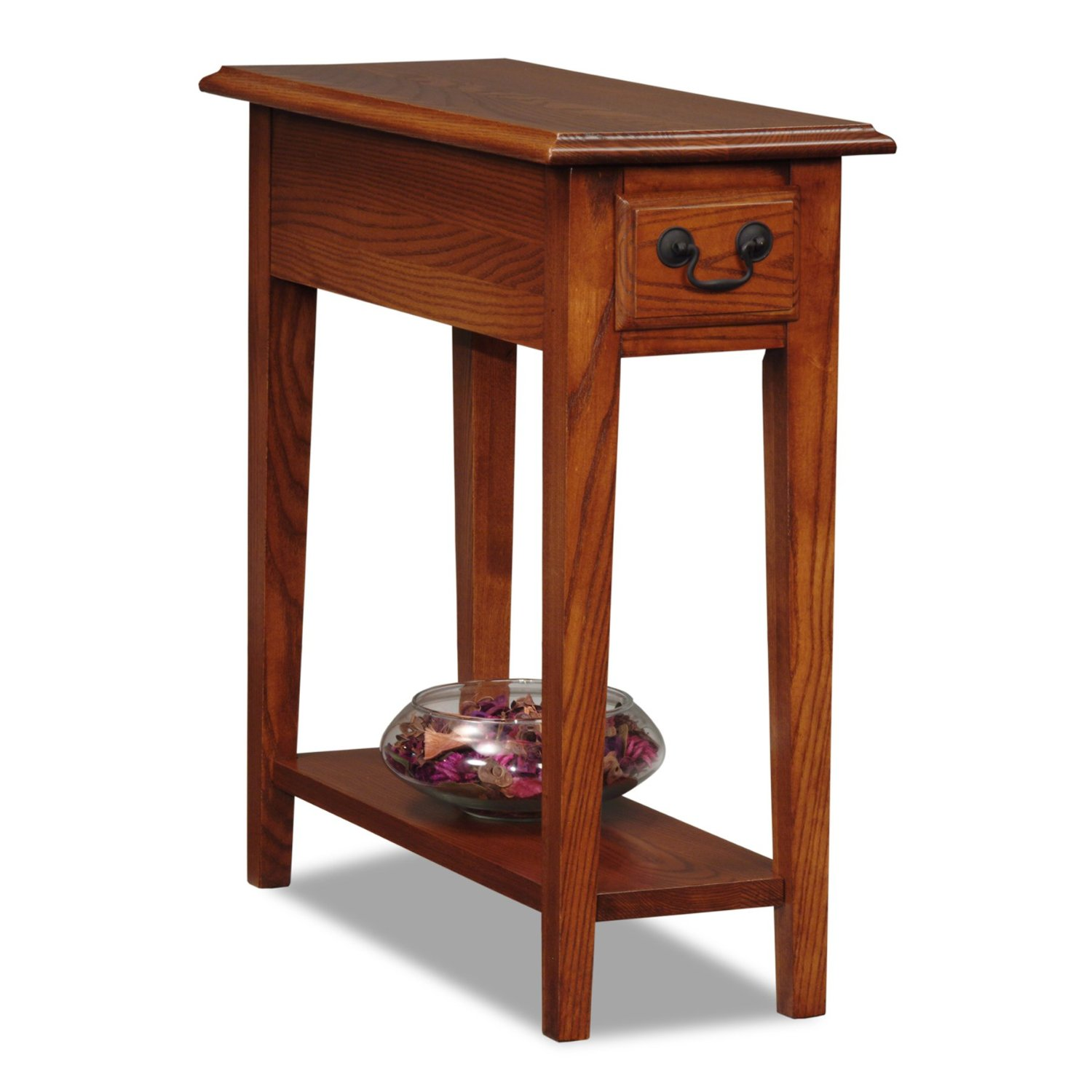 oak end tables with drawers home furniture design oval accent table winsome daniel drawer black finish pink lamp shade bar height bistro set very slim side super skinny perspex