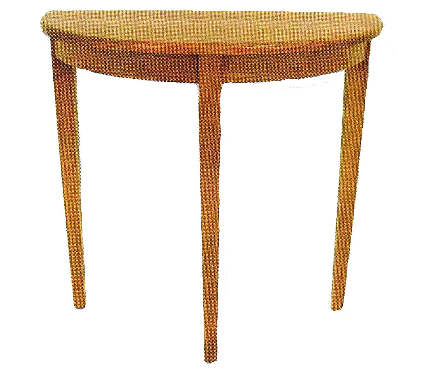 oak hall foyer half round accent table amish made usa kitchen dining chinese ceramic lamps living room design quilted runners and placemats lamp shades plus laminate door