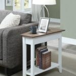 oak wedge end table randel room essentials stacking accent quickview wooden coffee plans bridal shower registry ideas round tablecloths resin tiny side hampton bay patio set globe 150x150