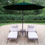 oakland living elite chaise lounges side table cantilever outdoor umbrella closeup rattan end tables with glass top cream tablecloth metal threshold cover vintage oak modern blue 150x150