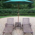oakland living elite chaise lounges side table green umbrella outdoor closeup metal accent moroccan lamp bunnings couch rose gold console teal bedroom chair threshold cover round 150x150