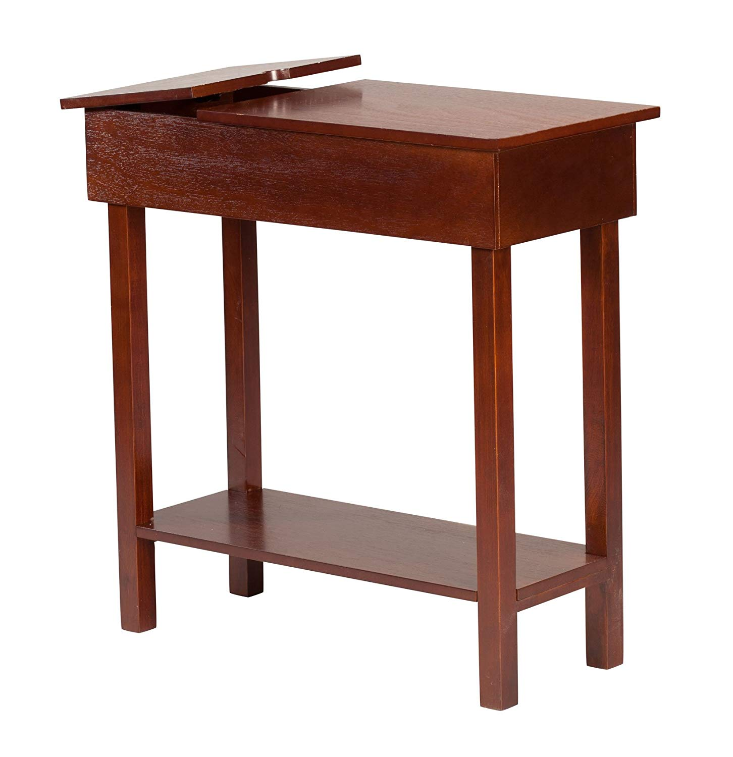 oakridge chairside table with usb power strip vtnel accent port wide brown wood finish kitchen dining homes reclaimed furniture chestnut best antique blue end gallerie credit card
