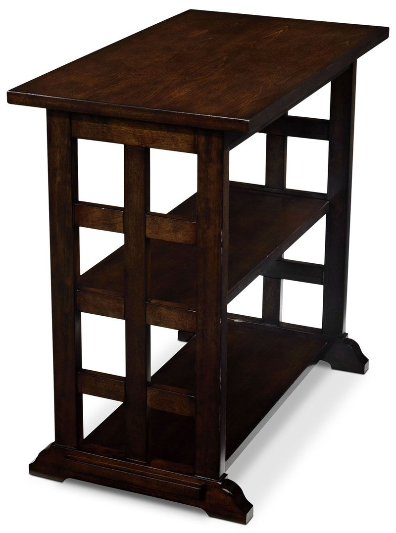 occasional tables the brick accent table with power gander dark brown tabled appoint brun fonce ashley nesting outdoor side bunnings barn style kitchen ornate black metal patio