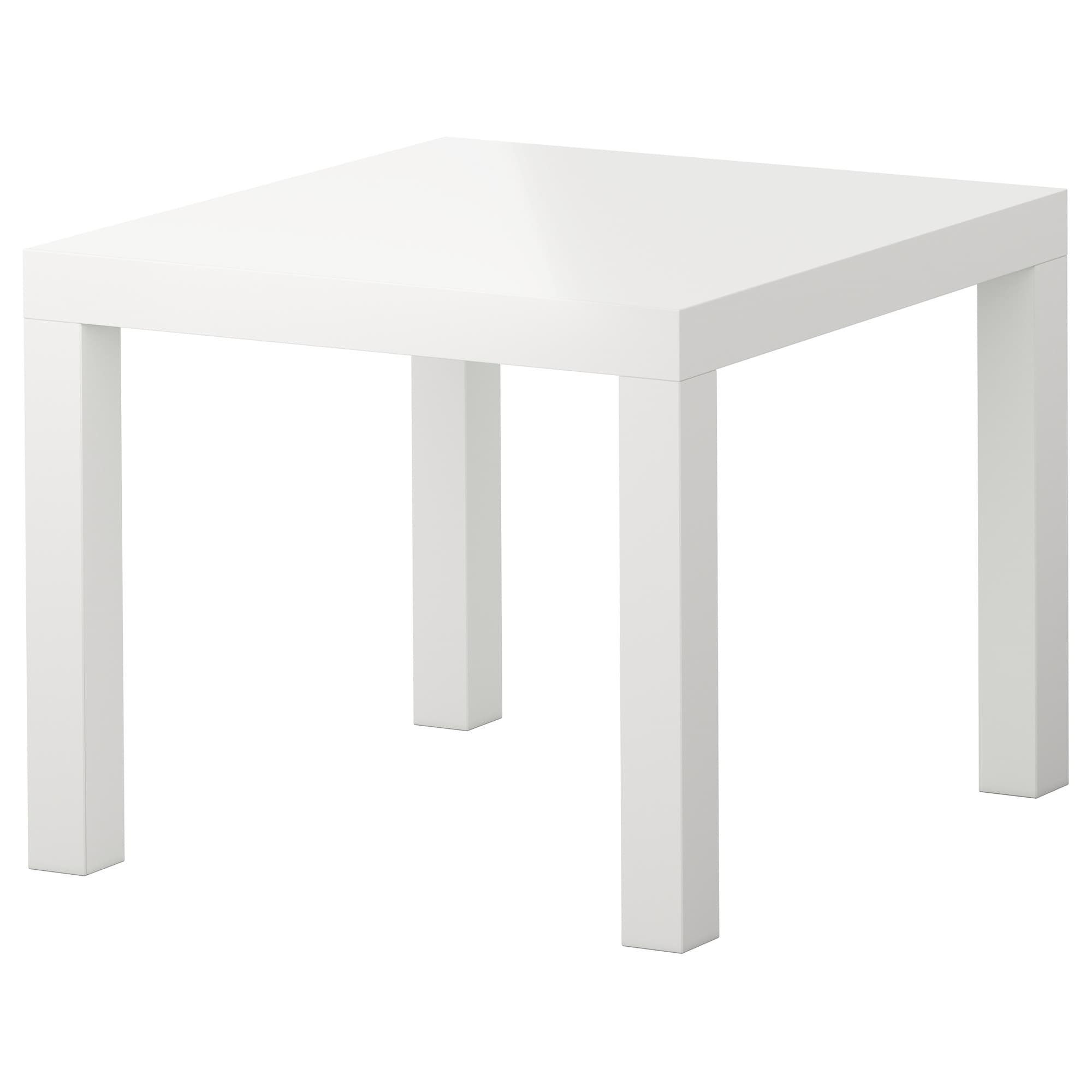 occasional tables tray storage window ikea lack side table high gloss white small rectangular accent the surfaces reflect light and give vibrant look outdoor coffee with umbrella
