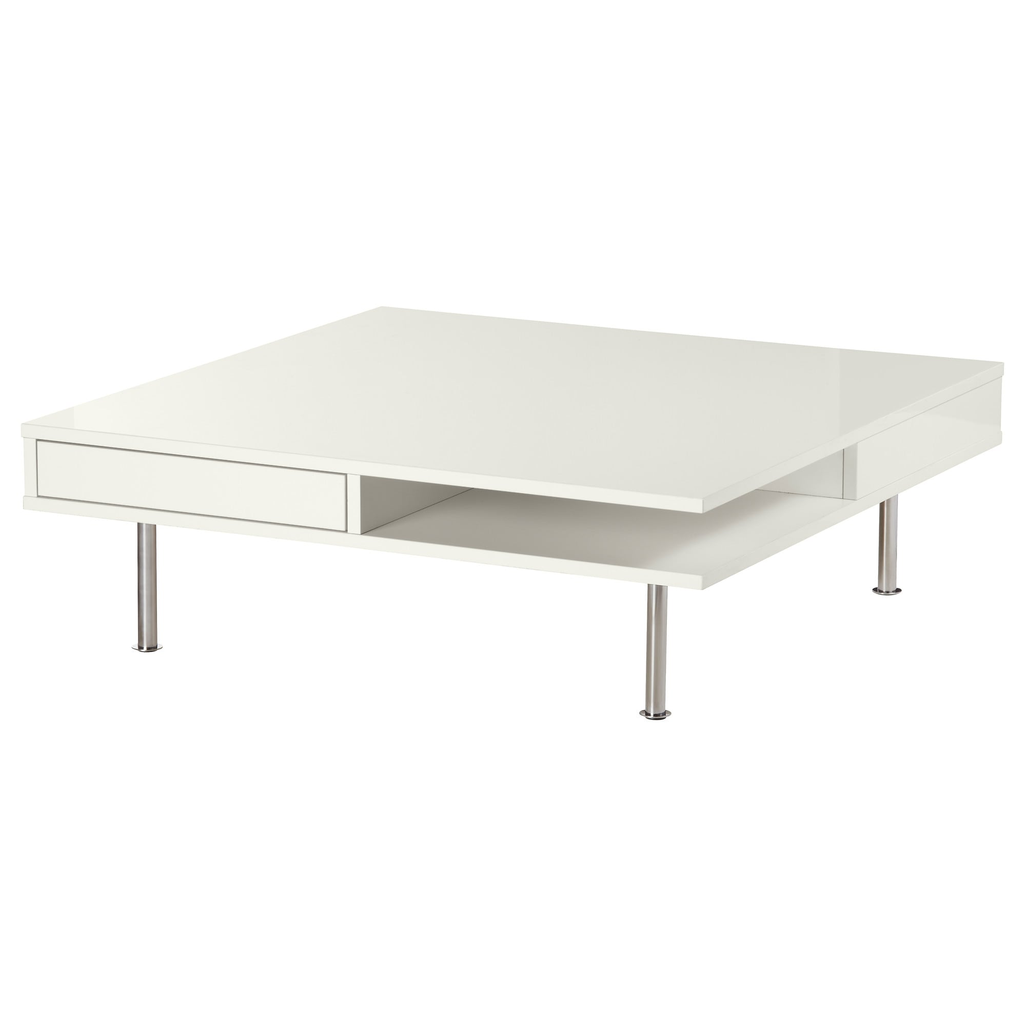 occasional tables tray storage window ikea tofteryd coffee table high gloss white small accent smooth running drawers for storing remote controls magazines etc bedside charging