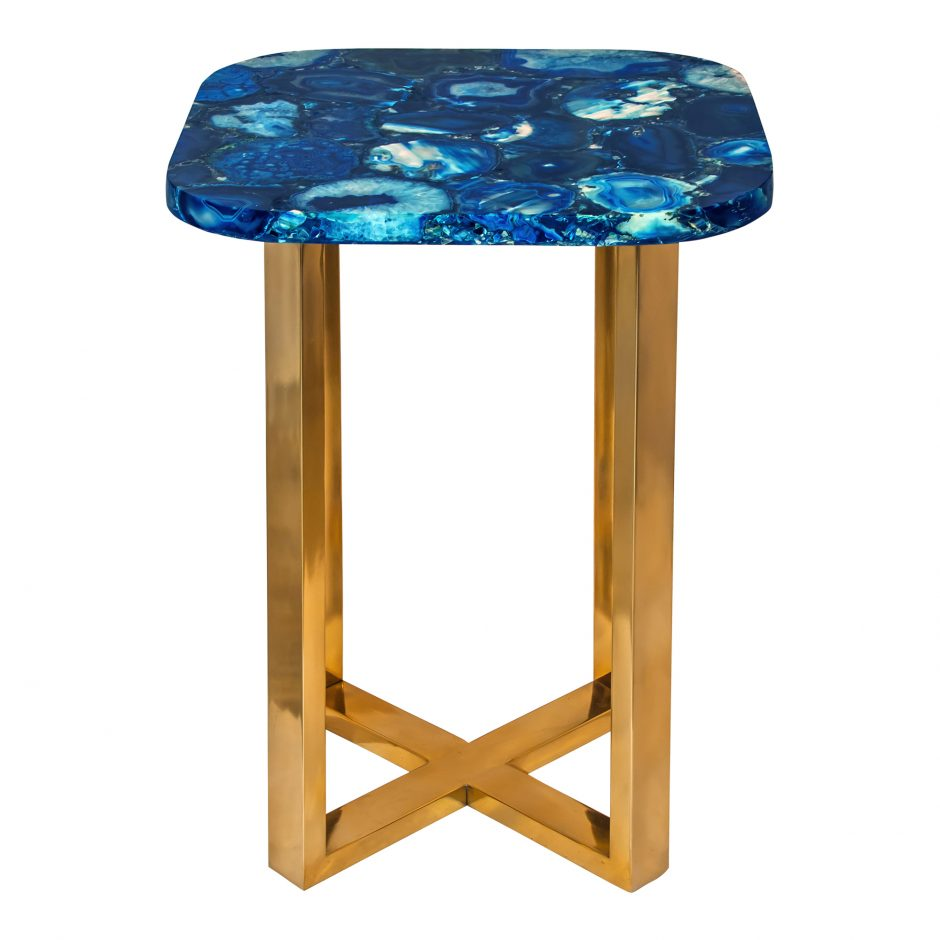 oceanic blue agate accent table products moe whole aqua tables black outside patio set room essentials chair work light mirrored console cabinet round plastic tablecloths with