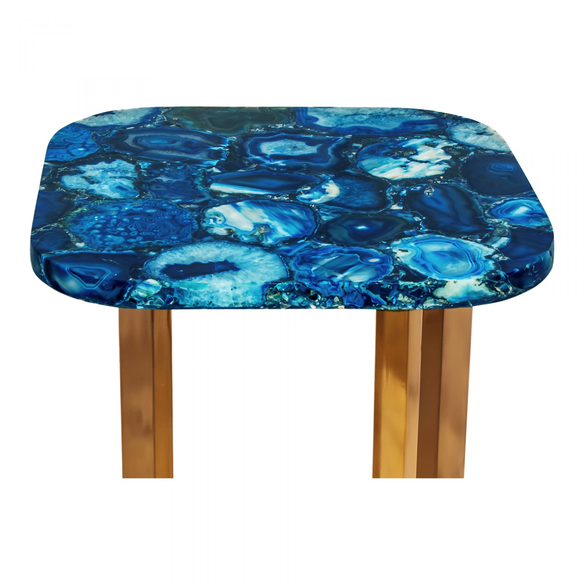 oceanic blue agate accent table products moe whole teal tables american drew furniture hammered metal coffee small antique marble top piece patio dining set counter height chairs