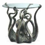 octopus table metal accent end coastal nautical ocean sculpture spi home sams patio furniture antique lamps white round side dining room light fixture plus tables solid cherry 150x150