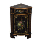 off antique black hand painted single drawer corner cabinet second accent table tables reclaimed oak outdoor furniture calgary hairpin leg bedside pottery barn glass top dining 150x150
