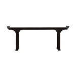 off ballard designs dark brown wood console table accent tables glass lamp shades dale lighting lamps industrial couch outdoor pub office marble and dining grey coffee mid century 150x150