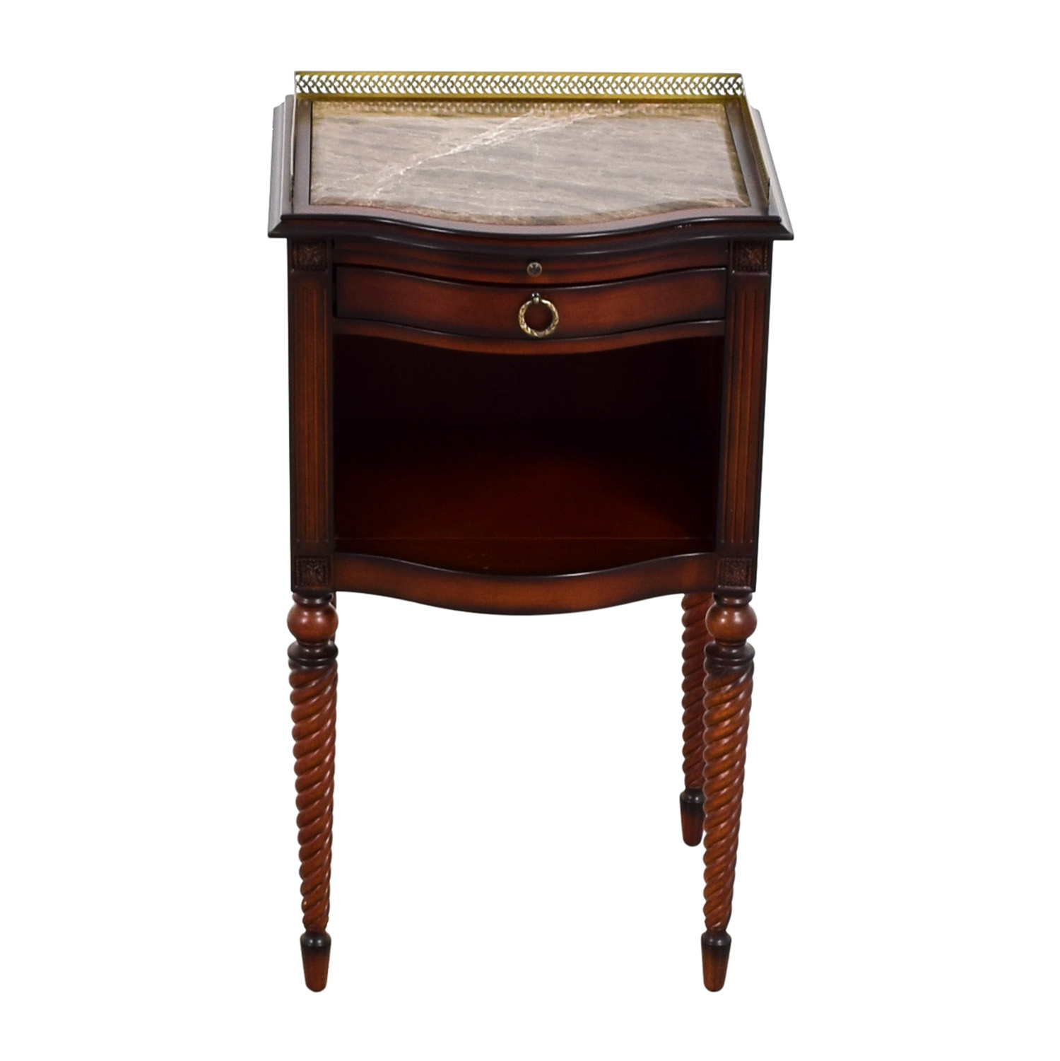 off bombay marble top with gold trim wood corner accent table tables dorm decor ideas modern glass end half patio umbrella farmhouse dining big lots lamps vinyl lace tablecloth