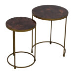 off carpet and home nesting round bronze brass accent tables used end table farmhouse with pipe legs natural edge wood sectional sofas edmonton kohls code danish dining stainless 150x150