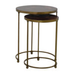 off carpet and home nesting round bronze used brass accent tables table ethan allen pineapple swivel chairs for living room gold legs patio umbrella lights affordable lamps 150x150