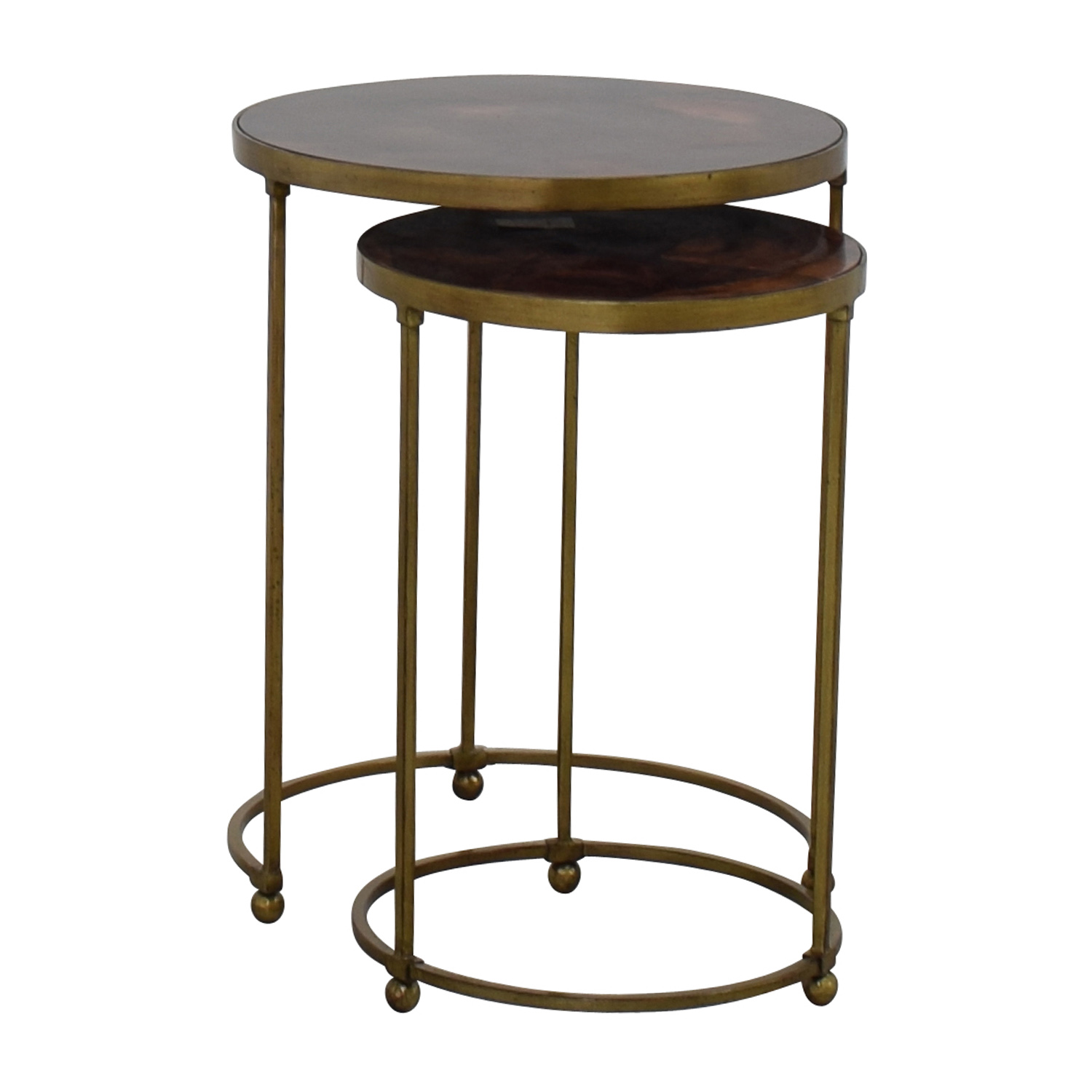 off carpet and home nesting round bronze used brass accent tables table ethan allen pineapple swivel chairs for living room gold legs patio umbrella lights affordable lamps