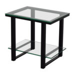 off crate and barrel barrelglass metal two shelf used side table accent with tables small teal pin legs low for living room gray coffee tall lamps bedroom solid wood end glass 150x150