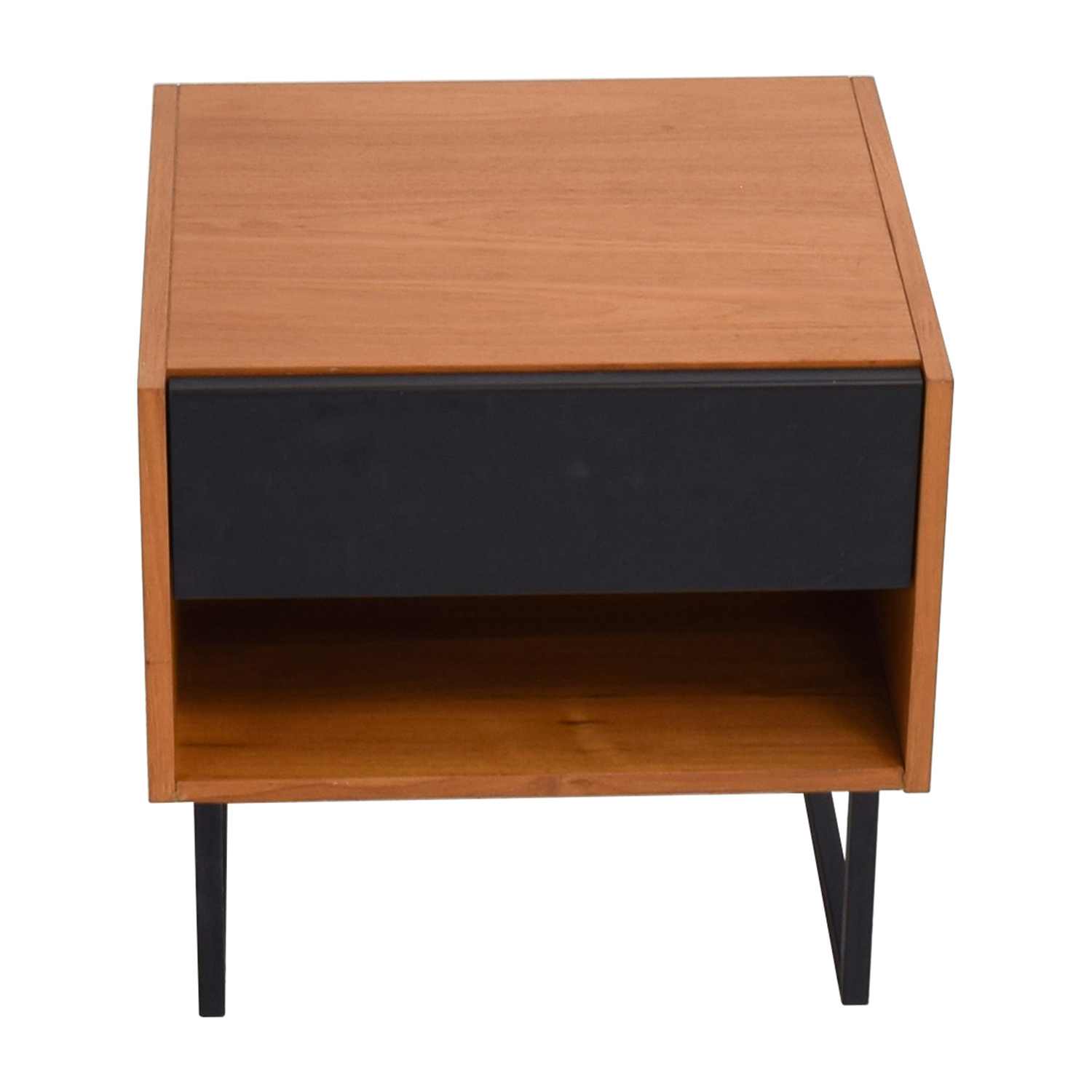 off crate barrel brown black lacquer table and marilyn accent ikea night wood coffee with drawers patio furniture saskatoon cabinet door knobs entry hall chest barn style kitchen