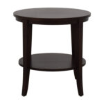 off ethan allen round wood accent table tables oak end glass for coffee linen napkins bulk next living room furniture best patio king bedding sets covers square black metal and 150x150
