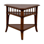 off ethan allen triangular corner lamp table stand rattan wood side triangle accent tables pottery barn wells chair dale tiffany pendant thin entrance ikea accessories vintage 150x150