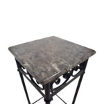 off faux marble with black metal base accent table tables second hand battery run lamps gloss coffee shelf bedroom chairs dining cover set oval outdoor bengal manor mango wood 150x150