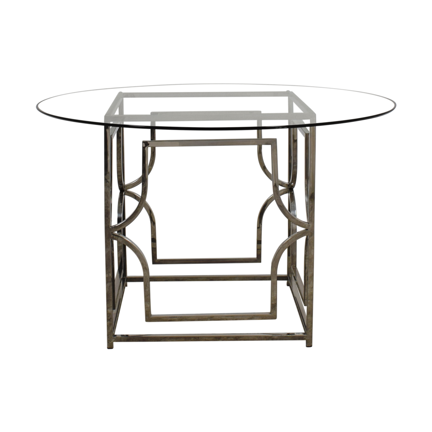 off gallerie abigail round glass and chrome dining table accent dinner tables nautical lamp shades contemporary wood coffee floor lamps outdoor couch piece nesting inexpensive