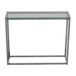off glass and chrome console table tables used metal accent sofa with shelf dimensions shabby chic chest drawers grey nest white coffee storage floral lamp ikea box laminate floor 150x150