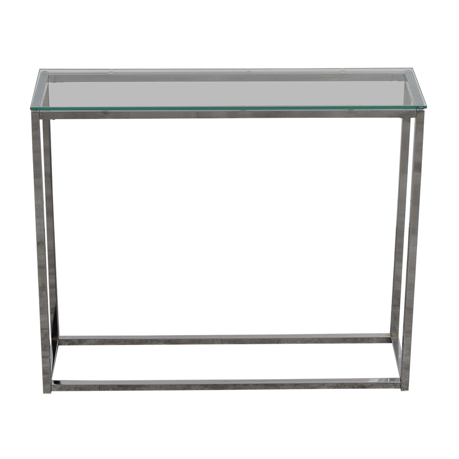 off glass and chrome console table tables used metal accent sofa with shelf dimensions shabby chic chest drawers grey nest white coffee storage floral lamp ikea box laminate floor