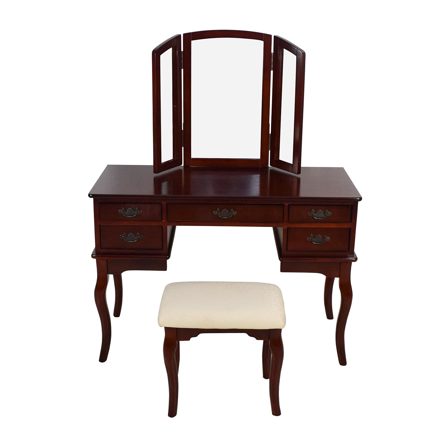 off hardwood vanity with matching stool tables used accent table brown coffee for sectional tiny best outdoor furniture covers nite stands home goods tablecloths wood living room