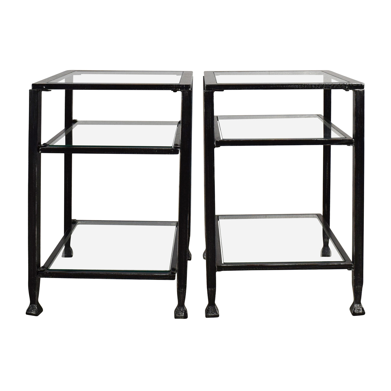 off harper blvd bunch metal glass end table pair black tables coupon carolina panthers colors foot farmhouse ikea living room side lamp with drawer fine furniture frame base round