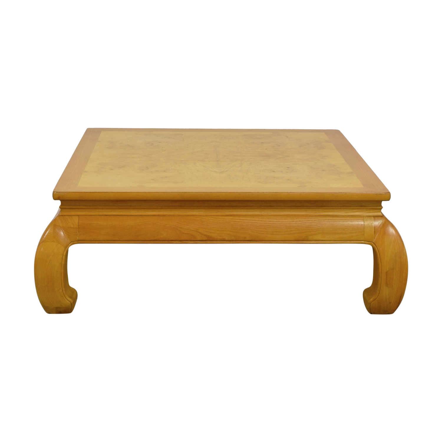 off henredon ming burlwood top coffee table tables burl wood accent yellow oval tablecloth nautical side small mid century light target wicker chairs mosaic patio room essentials