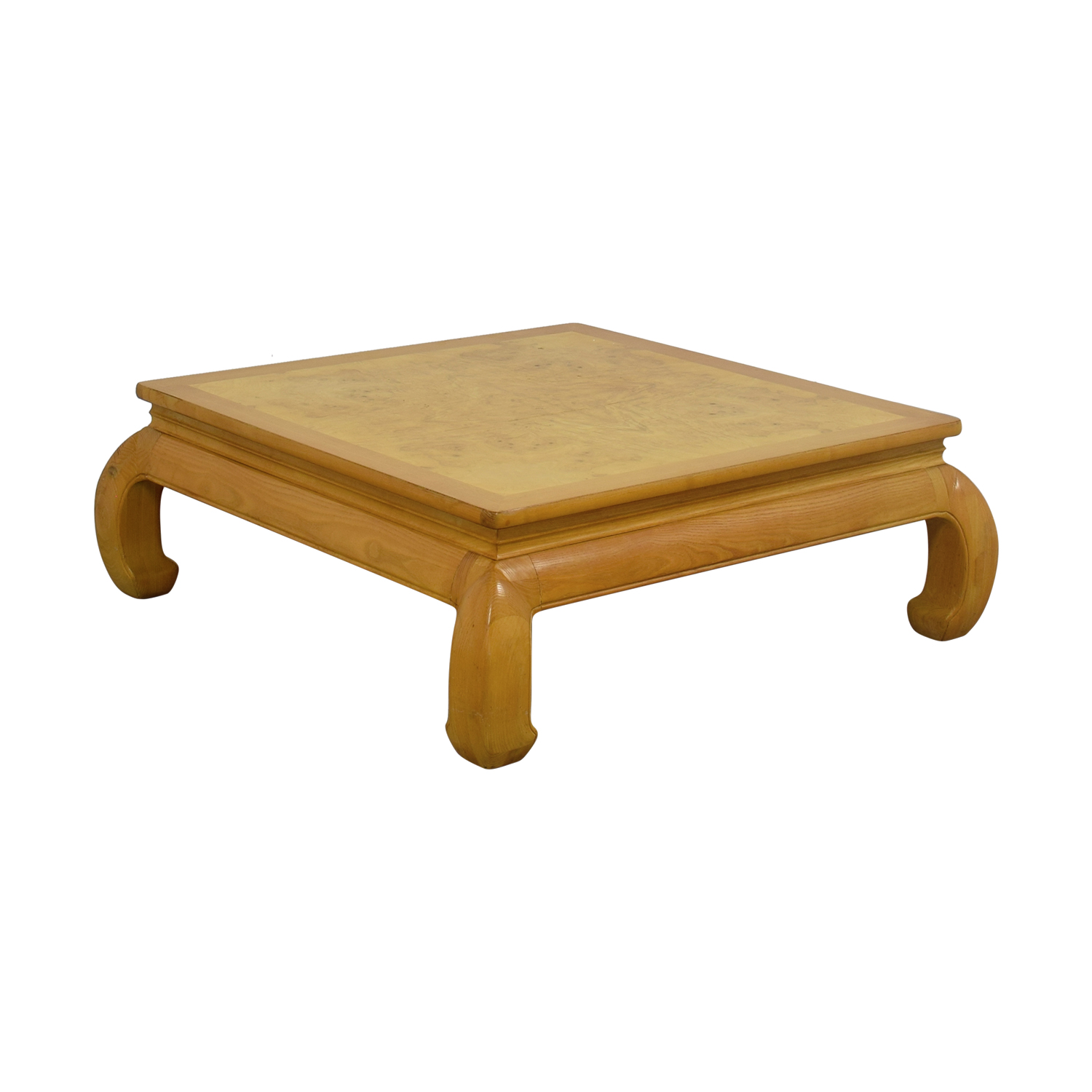 off henredon ming burlwood top coffee table tables second hand burl wood accent furniture leg extensions round mosaic outdoor door stopper small square glass behind sofa antique