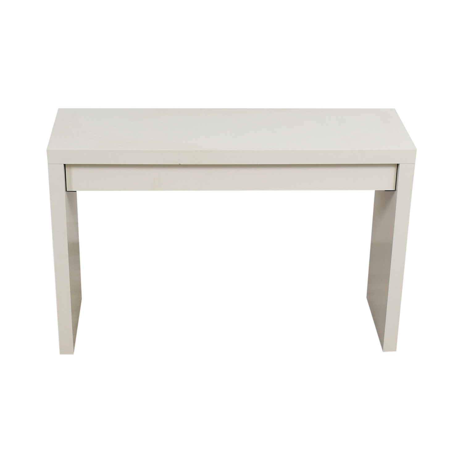 off ikea malm white single drawer narrow desk table used accent with tables rustic furniture target wine rack purple lamp gray nesting teak outdoor dining small round oak coffee