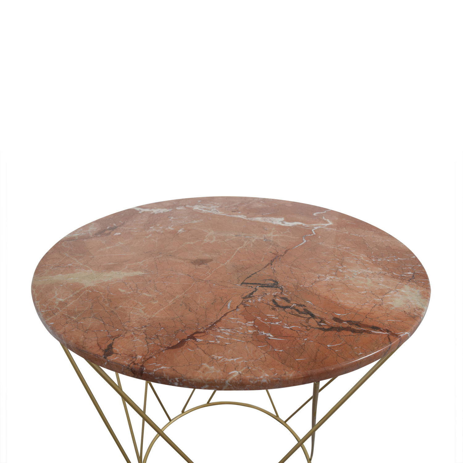 off lotus pink gold round marble table tables second hand accent very small occasional target threshold drawer dining room and chairs drum chair glass dinner sofa with storage