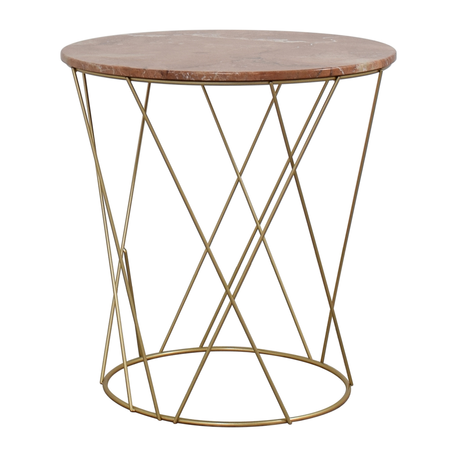 off lotus pink gold round marble table tables second hand metal accent narrow shelf behind couch pier one nesting bronze patio side small blue black cube outdoor furniture