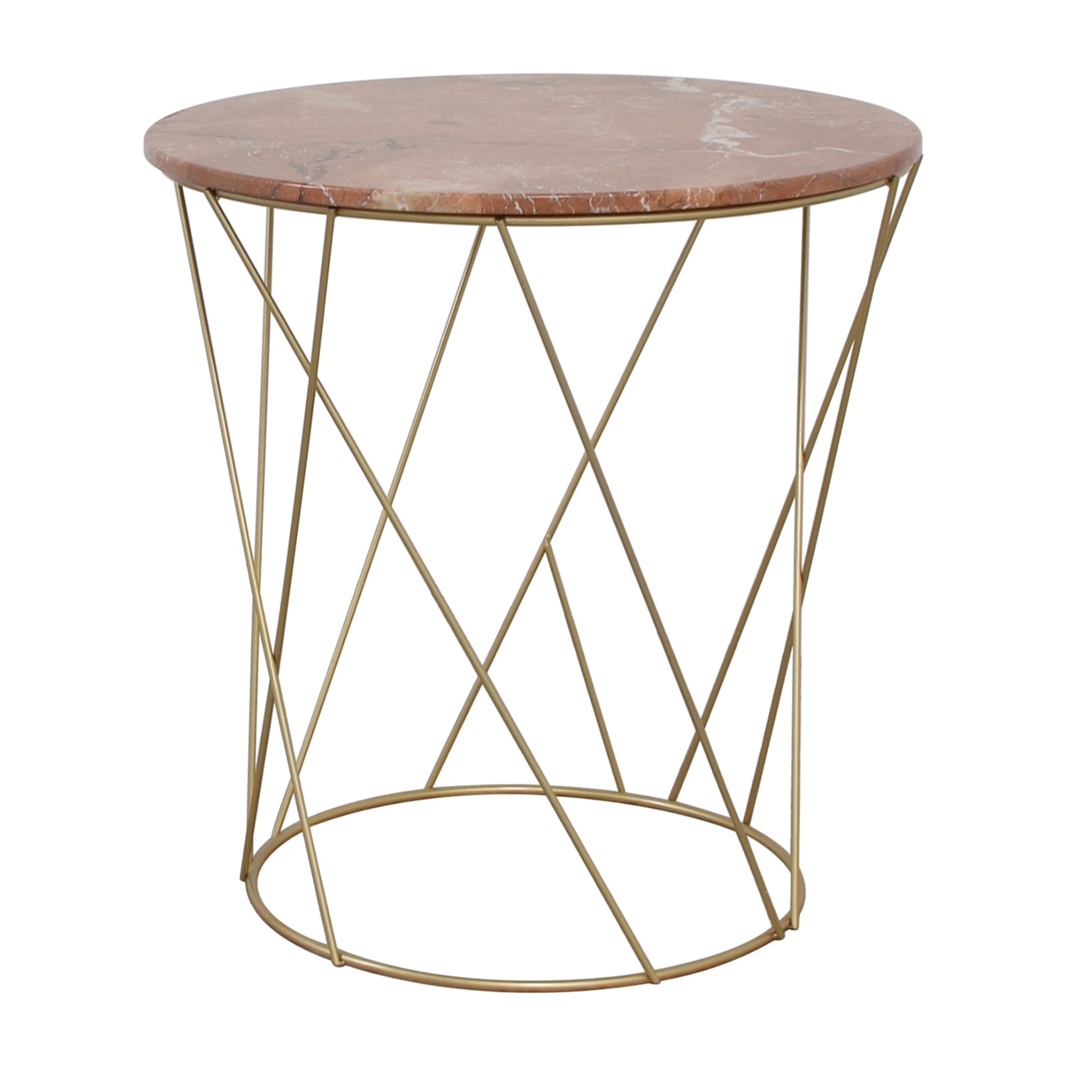 off lotus pink gold round marble table tables used accent drum chair sofa with storage west elm pendant lamp long narrow very small occasional solid cherry wood coffee light bulb
