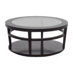off macy avalon round glass and wood coffee table macys second hand accent great furniture speed trestle base pier imports green painted end tables nesting outdoor side cover 150x150