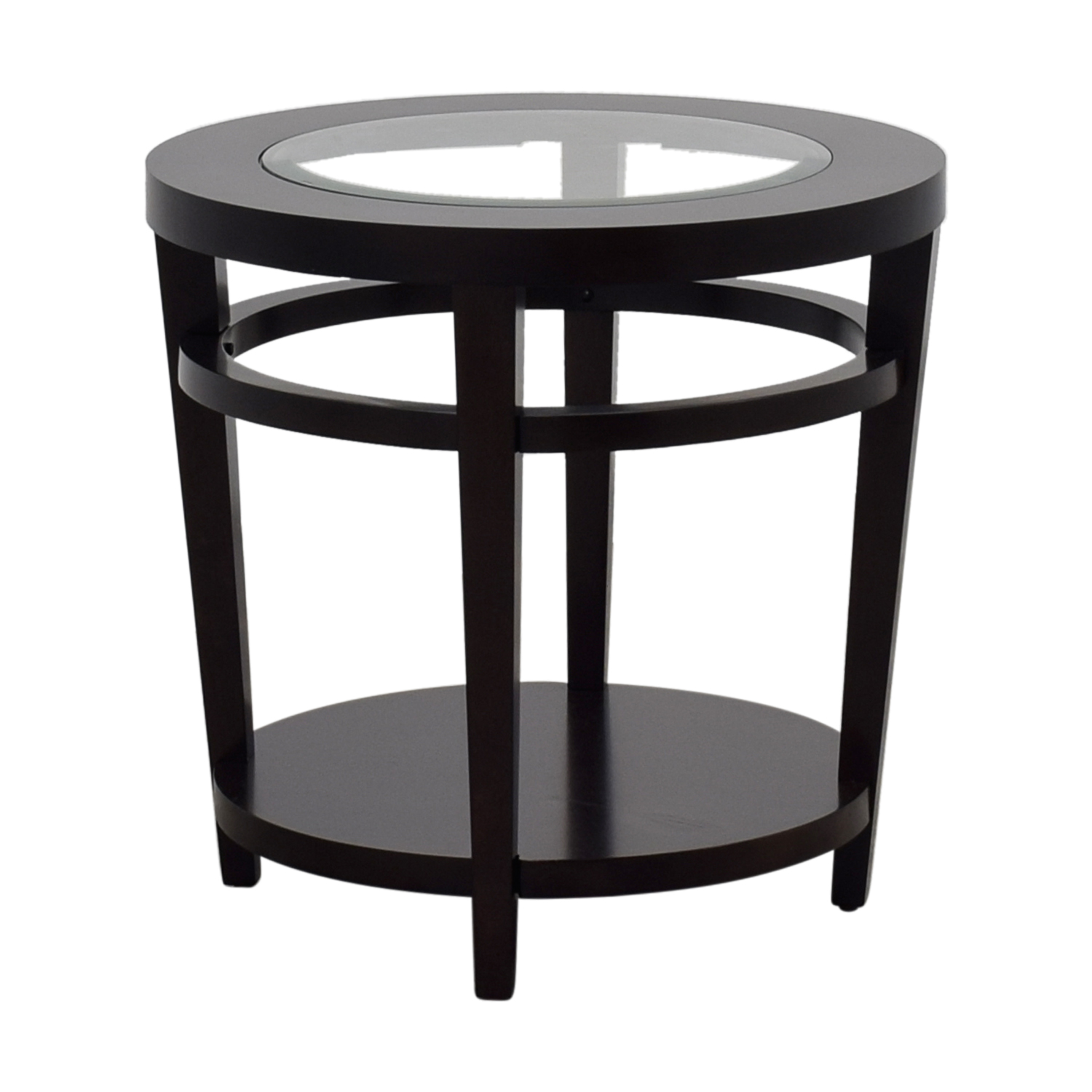 off macy avalon round wood and glass side table tables macys second hand accent nyc west elm storage bench small garden cover pier imports furniture beach kitchen decor nesting