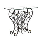 off metal wine rack with glass top tables second hand accent table outdoor patio and chairs round gold coffee small pedestal side bedroom desk ikea kids storage boxes bar black 150x150