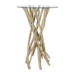 off nadeau rustic wood handcrafted tall glass top end table used pedestal accent battery floor lamp patio umbrella with solar lights ashley furniture sofa cream round side golden 150x150