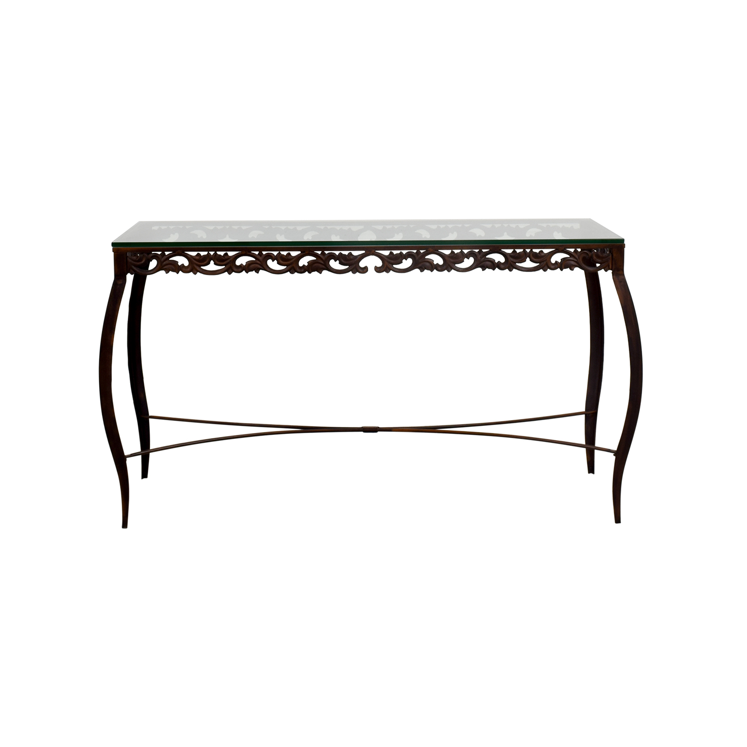 off pier imports glass console table tables accent small brass coffee west elm coupon code tiffany dragonfly lamp circular side half round fruit cocktail recipe skirts decorator