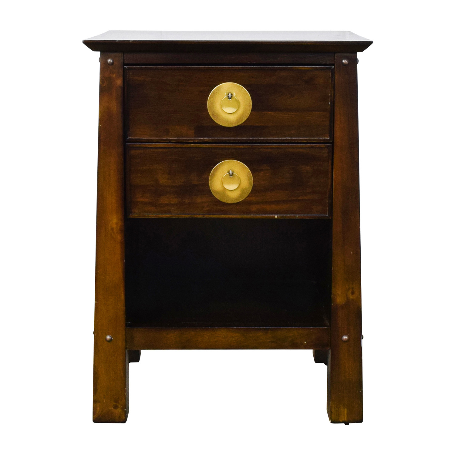 off pier imports shanghai collection espresso nightstand accent tables used front hall table bedside legs bar height tiffany dragonfly lamp glass wine rack rustic modern kitchen